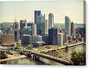 The Pittsburgh Skyline Canvas Print by Lisa Russo