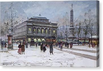 The Place Du Chatelet Paris Canvas Print