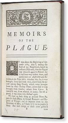 The Plague Canvas Print by British Library