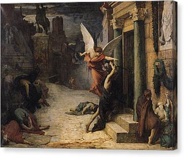 The Plague In Rome, 1869 Oil On Canvas Canvas Print by Jules Elie Delaunay