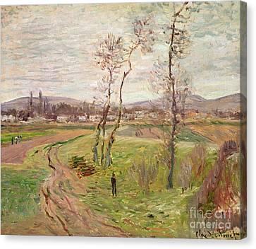 Gennevilliers Canvas Print - The Plain At Gennevilliers by Claude Monet