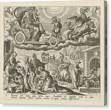 The Planet Saturn And Its Children, Harmen Jansz Muller Canvas Print by Artokoloro