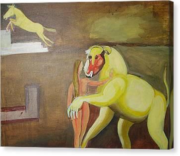 The Play Canvas Print by Prasenjit Dhar