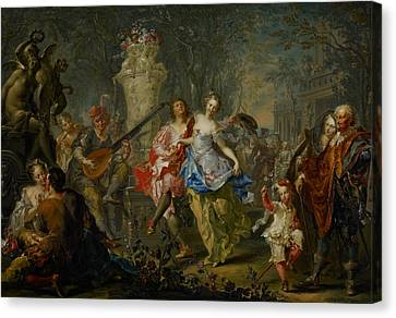 The Pleasures Of The Seasons     Spring Canvas Print by Johann Georg Platzer