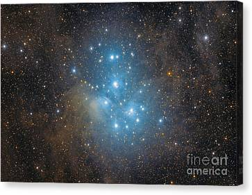 The Pleiades, An Open Star Cluster Canvas Print