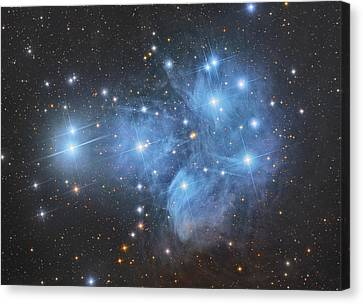 The Pleiades Open Star Cluster Canvas Print