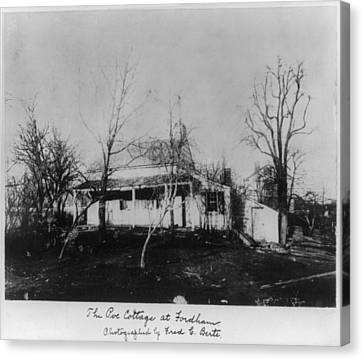 The Poe Cottage At Fordham, The Home Canvas Print by Everett