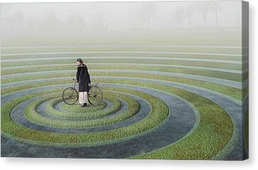 Composing Canvas Print - The Point Of No Return by Esther Margraff