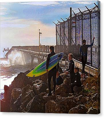 The Point Of No Return Canvas Print by Ron Regalado
