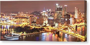 The Point To Ft. Pitt Canvas Print by Adam Jewell