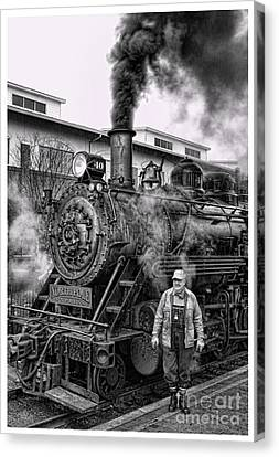 The Polar Express - Steam Locomotive V Canvas Print by Lee Dos Santos