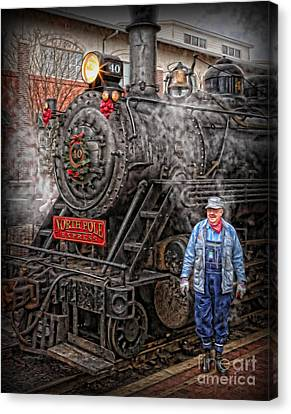 The Polar Express - Steam Locomotive Vi Canvas Print by Lee Dos Santos