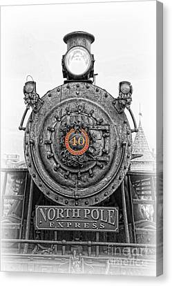 The Polar Express - Steam Locomotive Iv Canvas Print by Lee Dos Santos