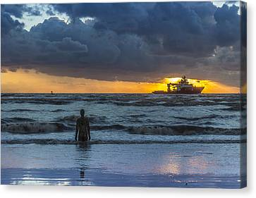 The Polar King From Crosby Beach Canvas Print by Paul Madden