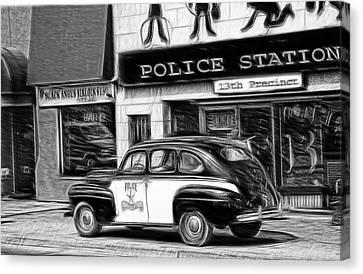 The Police Car Canvas Print
