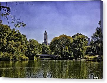 The Pond - Central Park Canvas Print by Madeline Ellis