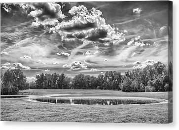 Canvas Print featuring the photograph The Pond by Howard Salmon
