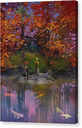 The Pond On The Eighteenth Canvas Print
