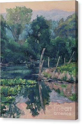 The Pond's Edge Canvas Print by Gregory Arnett