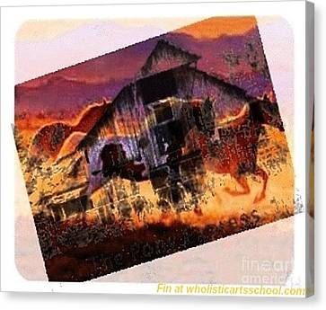 The Pony Express Canvas Print by PainterArtist FIN
