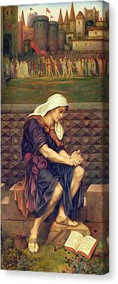 The Poor Man Who Saved The City Canvas Print by Evelyn De Morgan