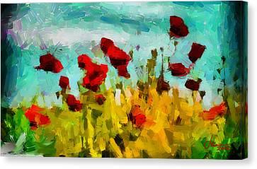 The Poppy Field Tnm Canvas Print by Vincent DiNovici