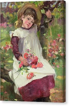 The Poppy Gatherer Canvas Print by David Fulton