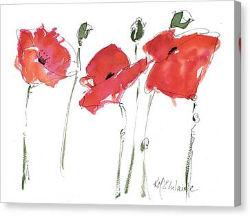 The Poppy Ladies Canvas Print by Kathleen McElwaine