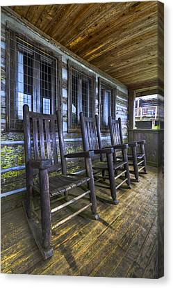 The Porch Canvas Print by Debra and Dave Vanderlaan