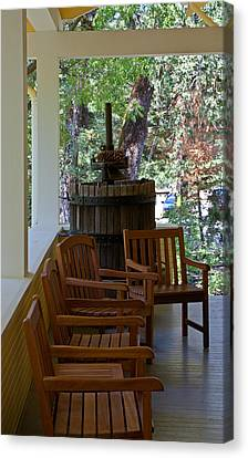 The Porch Canvas Print