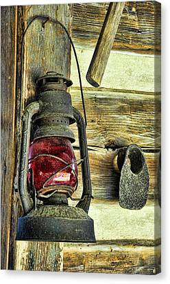 Log Cabin Canvas Print - The Porch Light by Jan Amiss Photography