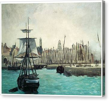 The Port At Calais Canvas Print by Edouard Manet