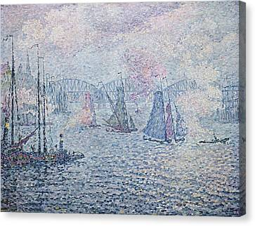 The Port Of Rotterdam, Or The Fumes Canvas Print by Paul Signac