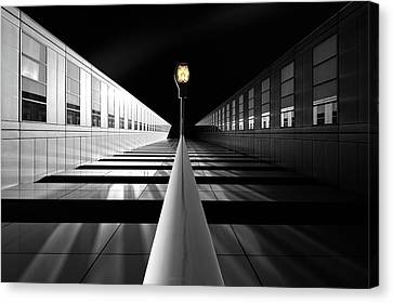 Lamp Post Canvas Print - The Portal For Silver Mountains by Dr. Akira Takaue