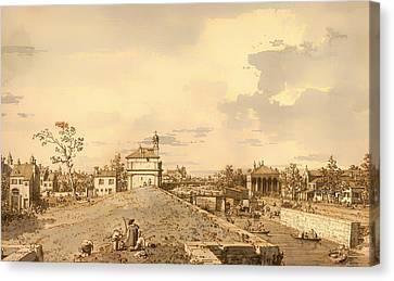 The Porto Portello In Padua Canvas Print