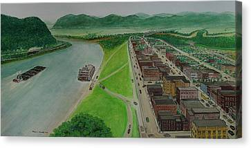 The Portsmouth Ohio Boneyfiddle District 1948 Canvas Print