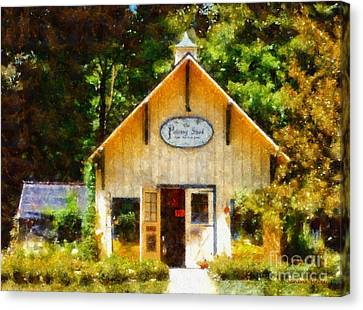 The Potting Shed Gift Shop Garden Canvas Print by Janine Riley