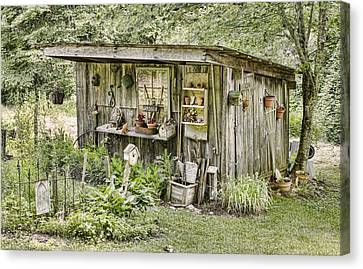 The Potting Shed Canvas Print by Heather Applegate