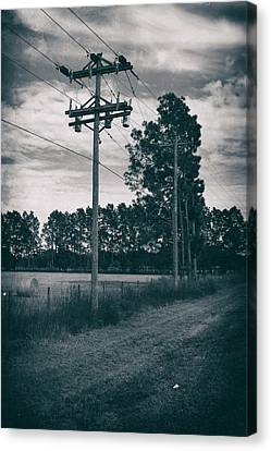 The Power Lines  Canvas Print by Howard Salmon