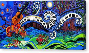 The Power Of Music Canvas Print by Genevieve Esson