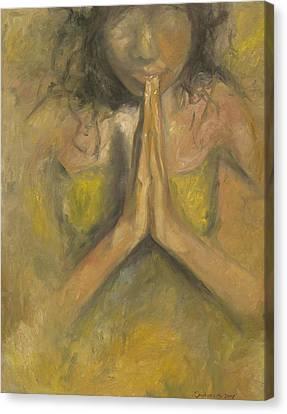 The Power Of Prayer - Blind Faith Canvas Print