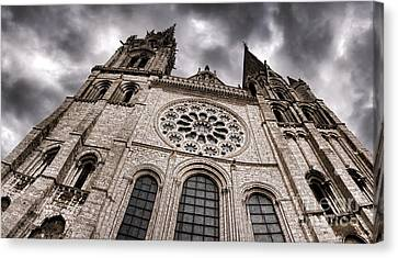 The Power Of The Church Canvas Print by Olivier Le Queinec