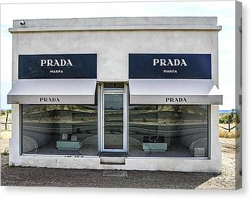 The Prada Installation In Marfa Canvas Print by Rebecca Dru