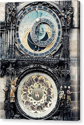 The Prague Orloj Canvas Print by Zinvolle Art