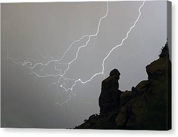 The Praying Monk Lightning Storm Chase Canvas Print by James BO  Insogna