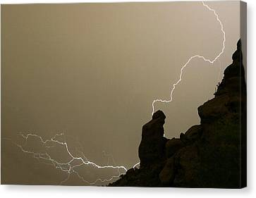 The Praying Monk Lightning Strike Canvas Print by James BO  Insogna