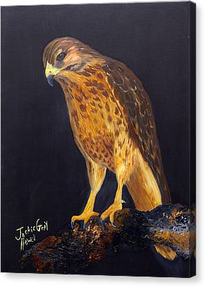 Canvas Print featuring the painting The Predator by J Cheyenne Howell