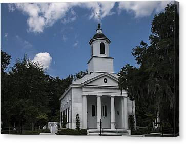 The Presbyterian Church On Edisto Island Canvas Print