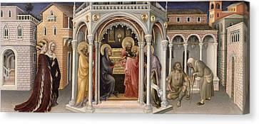 The Presentation In The Temple Canvas Print by Gentile da Fabriano