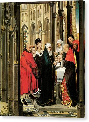 The Presentation In The Temple Canvas Print by Hans Memling